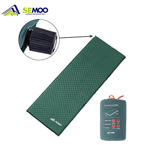 Foto de Semoo Esterilla/colchoneta auto-hinchable impermeable para camping, 188 x 60 x 3 cm, válvula auto-hinchable de rápida actuación