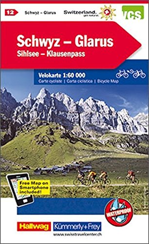 Schwyz / Glarus 12 Cycle Map 2015 por Hallwag Kümmerly+Frey AG