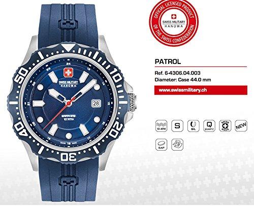 f5a585b8e9cc Swiss Military Hanowa – Reloj analógico de Cuarzo con Correa de Silicona 06  – 4306.04.