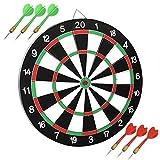 Yaheetech Dartscheibe Dartspiel Wurfspiel Dartboard inkl. 6 Dartpfeile