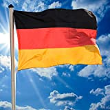 FLAGMASTER Alu Fahnenmast 6,5m + Deutschlandfahne, Komplettset, 5-fach höhenverstellbar, 3 Jahre Garantie Test