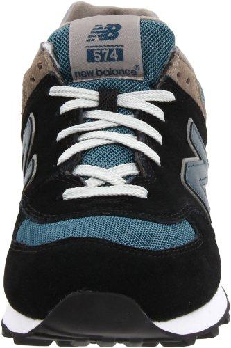 New Balance M574GS M574GS Herren Sneaker Schwarz (Navy with Teal & Grey)