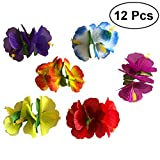 Best Sombreros OULII para las mujeres - OULII 12 unids Hawaiian Flowers Hair Clips Barrette Review