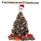 #8: TiedRibbons Christmas/xmas tree 5 feet with 121 Tree Hanging Ornaments   Christmas tree artificial   Christmas tree combo   xmas tree with decoration   xmas tree