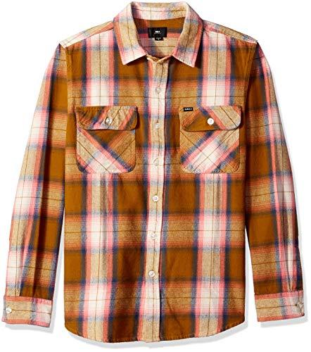 Obey Herren Hirsch Long Sleeve Woven Shirt Button Down Hemd, Tapenade Multi, Mittel - Long Sleeve Woven Shirt