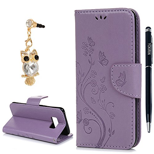 Preisvergleich Produktbild Galaxy S8 Plus Case, Samsung S8 Plus Wallet Case, yokirin Premium Soft PU Leder Notebook Wallet geprägt Butterfly Design Schutzhülle Ständer Funktion Card Holder Slot Slim Flip Schutz Skin Cover Tasche für Samsung Galaxy S8 Plus - Hot Pink