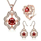 Gnzoe Jewelry, Gold Plated Women Ring Size 8 Earrings Necklace Crystal Inlaid CZ - Best Reviews Guide