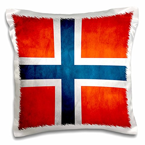 3dRose PC 28275Set 1Norwegen Flag-Pillow Fall, 16von 40,6cm Norwegen-pc