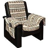 Sesselschoner Sesselüberwurf Sesselauflage Sesselbezug Polster kuschelweich in Lammflor-Optik - mit
