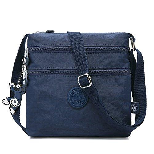 Designer Handtasche Nylon (Foino Umhängetasche Damen Schultertasche Mode Kuriertasche Vintage Handtasche Lässige Taschen Reisetasche Leicht Strandtasche Sporttasche für Mädchen Büchertasche Design Messenger Bag)