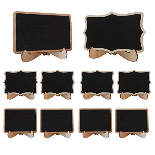 �r Nachricht Board Schilder Tafel mit Ständer für Hochzeit Party Speisen, Dekorieren Anzeichen, holz, 3.74x2.95inch, 10 Stück (Hochzeits-empfangs-zeichen)