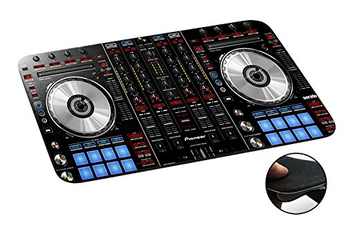 1061 - Cool Fun DJ Mixer Turntable Vintage Retro Music Dance Clubber Rnb Hip Hop Rave Club Design Macbook PC Laptop Anti-slip Mousepad Mouse Mat Tpu Leather Stark haftende Unterseite für optimalen Halt