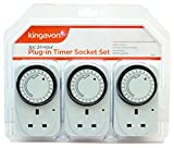 Kingavon BB-TS210 24 Hour Plug-in Timer Socket Set