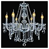 Kristall-Kronleuchter-Beleuchtung, Dst Marie Therese 6 Arme-Zweige Licht-freier Juwel-Kristallglas-Anhänger-Kronleuchter