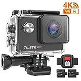 ThiEYE i60+ Action Camera 4K WiFi 20MP 170° Grandangolare 2.0'' LCD HD Screen 2.4G Telecamera Videocamera 60M Subacquea Impermeabile con Telecomando Due 1050mAh Batterie e Kit Accessori