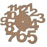 Ziffernblatt, D: 30 cm, MDF, 1Stck, Stärke: 3 mm