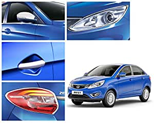 Auto Pearl-Chrome Plated Premium Quality Accessories For - Tata Zest - Set Of 4 Pcs.