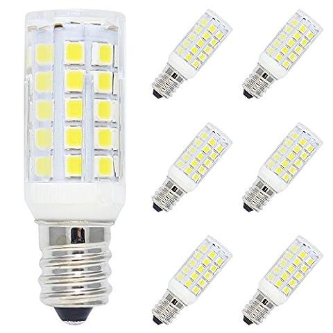 6 Pack E12 Ampoule Lampe LED 5W Blanc Froid LED Bulb 44 SMD 2835LEDs Super Brillant 400LM Ampoule à LED 6000K Spot Light Remplacement à l'Incandescent 50W AC220V-240V