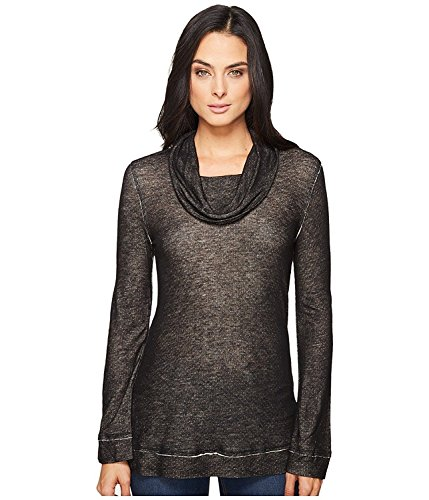 Splendid Women's Pacific Grove Knit Top Black Shirt (Pacific Shirt Knit)