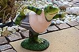 Maison en France Frosch, Hübscher, Stabiler und aktiver Yoga Frosch-,Breite 28 cm, für Haus und Garten