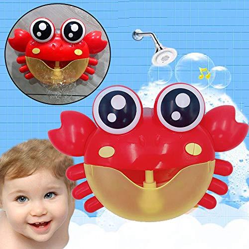 (mxjeeio Badewannenspielzeug Seifenblasenmaschine Automatisch Musik Babyspielzeug Spielzeug für die Badewanne Bubble Machine Automatische Bubble Maker Gebläse Musik Bad Spielzeug)