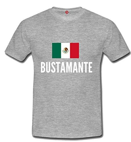 T-shirt Bustamante city grigia