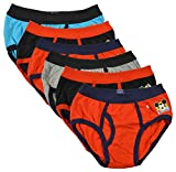 #7: BODYCARE Pure Cotton Multi-Coloured Brief for Boys & Kids (307-Packof6)