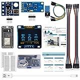 ESP8266 Kit stazione meteo con DHT11 Umidità temperatura BMP180 Pressione atmosferica BH1750FVI Sensore luce 0.96 'OLED IIC Display giallo blu per Arduino IDE IoT Starter (Tutorial inglese incluso)