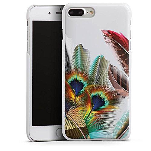 Apple iPhone 6 Silikon Hülle Case Schutzhülle Pfauenfedern ohne Hintergrund Pfau Hard Case weiß