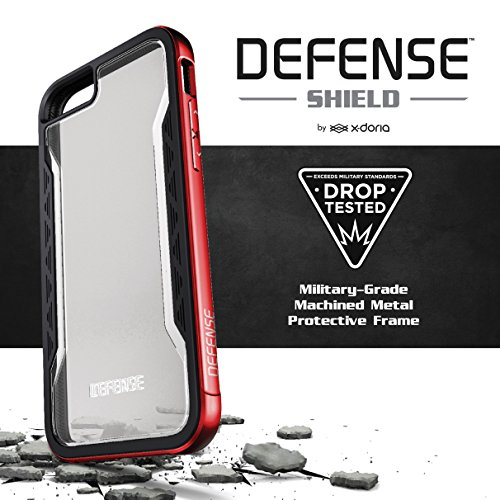 X-Doria 444682 Defense Shield Aluminium Schutzhülle für Apple iPhone 6 Plus/6S Plus rosa/gold Silber