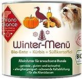 ChronoBalance Winter-Menü Bio (12 x 200g) - Hochwertiges Bio Nassfutter für Hunde mit Bio-Ente - glutenfrei, lactosefrei & allergikergeeignet