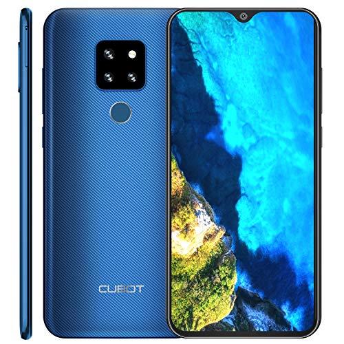 "CUBOT P30 4G Ultra Dünn Dual SIM Smartphone ohne Vertrag, 6.3"" FHD+ Display mit 4000mAh Akku, 4GB Ram+64GB Rom, 20MP+12MP+8MP + 13MP Vier Kameras, Android 9.0, Fingerabdruck+ Face ID+ Gyroskop, Blau"