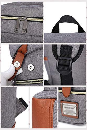LQRYJDZ Mode einfache Frauen Oxford Stofftasche Rucksack Laptop Rucksack Retro-Stil College School Rucksack (Color : C, Size : M)