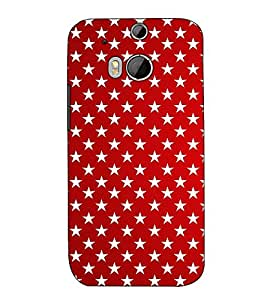 Fuson Designer Back Case Cover for HTC One M8 :: HTC M8 :: HTC One M8 Eye :: HTC One M8 Dual Sim :: HTC One M8s (Red Designer Pattern)