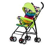 CDREAM Kinderwagen Acht-Rad Große Dämpfung Klapplicht und Leichte Sitz Auto Baby Regenschirm Kinderwagen,B-Green