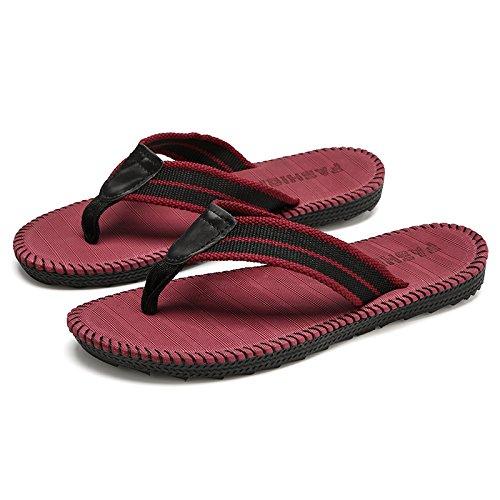 DogHaccd pantofole,Pantofole uomini estate home interno antiscivolo scarpe da spiaggia studenti pin clip outdoor fashion trend che trascina e Il rosso3