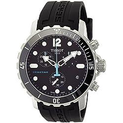 Tissot Seastar 1000 - Reloj (Reloj de pulsera, Masculino, Acero inoxidable, Negro, Acero inoxidable, Caucho, Negro)