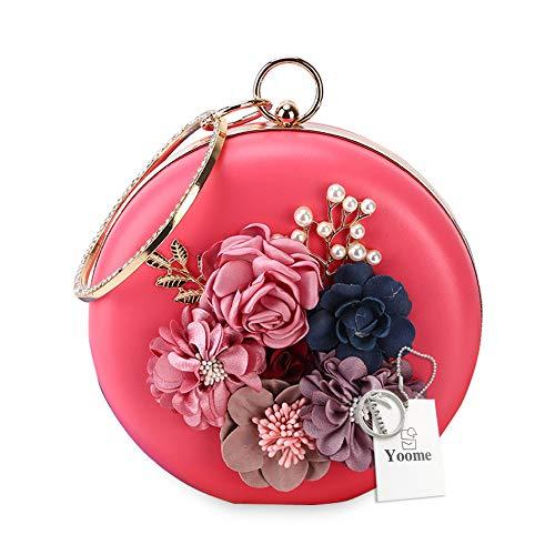 (Yoome YooHY101-Peach Red, Damen Clutch Beige Pfirsich Rot One_Size)
