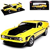 alles-meine GmbH Ford Mustang Mach I 4. Generation Coupe Gelb 1970-1973 1/18 Sun Star Modell Auto