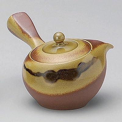 Yamakiikai Japonais en céramique Marron Kyusu (Théière Japonaise) Thé Chute 340CC Fy372