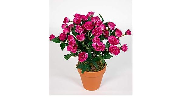 Seidenblumen Ro/ß Hibiskus 40cm gelb im Topf ZF k/ünstliche Pflanzen k/ünstlicher Eibisch Kunstblumen Kunstpflanzen