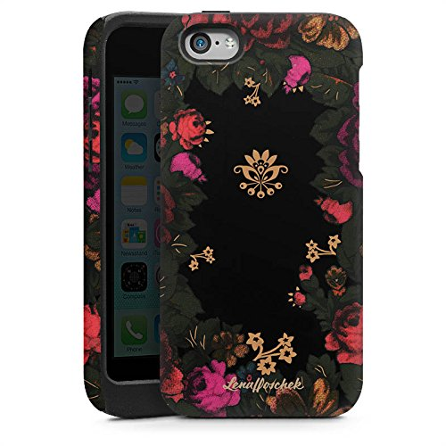 Apple iPhone 5 Housse étui coque protection Lena Hoschek Motif floral Fashionweek Cas Tough brillant