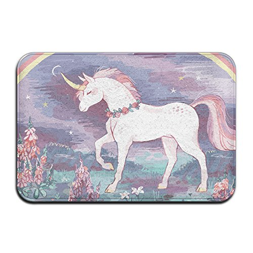 eefe117ab98f qifan Unicorn Horse Rainbow Personalizado Felpudo Alfombra  Interior Exterior Door mats Home Decor 23.6