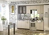 COZY-OM Küche Riviera 240 cm Küchenzeile EINBAUKÜCHE Küchenblock ERWEITERBAR - Module Frei Kombinierbar+Spüle