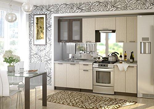 COZY OM Küche Riviera 240 Cm Küchenzeile EINBAUKÜCHE Küchenblock  ERWEITERBAR   Module Frei Kombinierbar+