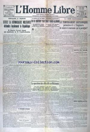 HOMME LIBRE (L') [No 4051] du 27/08/1927