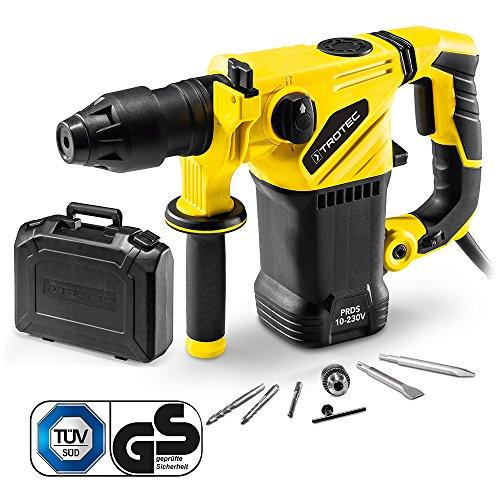 TROTEC Bohrhammer PRDS 10-230V (1500W, 5 J, Bohrleistung in Mauerwerk/Ziegel Ø 32 mm, SDS-Plus-Aufnahme, Zusatzhandgriff, im Koffer)