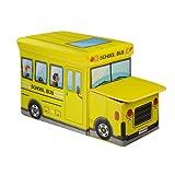 Kids Large Foldable Toy Box Stool Storag...