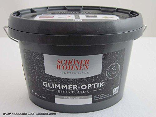 farbe glitzereffekt Glimmer-Optik Effektlasur Schöner Wohnen Opal 1 l
