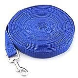 GHDLSJER 3/5 Mt Einziehbare Hundeleine Ausbildung Welpen Automatische Verlängerung Seil Walking Leinen Einstellbare Hundehalsband Für Kleine Mittelgroße Hunde Regular-Blue 5m